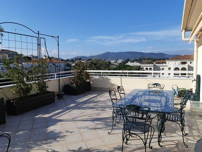 Photo for Cannes / le Cannet, beautiful apartment-large terrace, swimming pool, parking