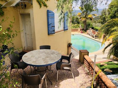 Photo for Nice bottom of villa fake T3 with swimming pool, terrace, wifi