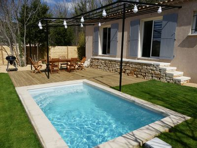 Photo for L'Olivette - 110m2 + Private Pool 2 to 6 people Air-conditioned