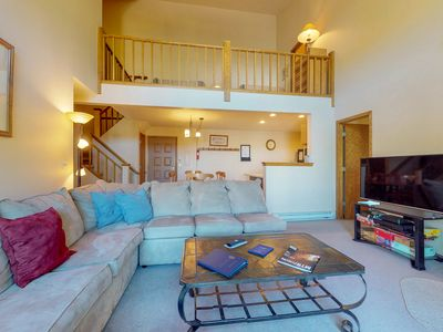 Photo for NEW LISTING! Spacious condo w/great location, shared pool, hot tub & sauna