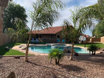 Photo for Desert Oasis w/Pool & great outdoor living. Sleeps 12