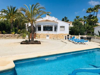Photo for Villa with private pool, air-con,wifi,walking distance to shops and restaurtants