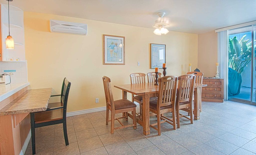 Spacious lower unit located just three houses from the sand!