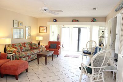 Large, open floor plan is perfect for enjoying your beach vacation with family and friends.