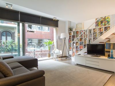 Photo for cozy duplex with pool in a quiet street next to paseo de gracia