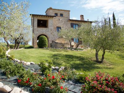 Photo for 4 bedroom Apartment, sleeps 8 in Toscella with Pool, Air Con and WiFi