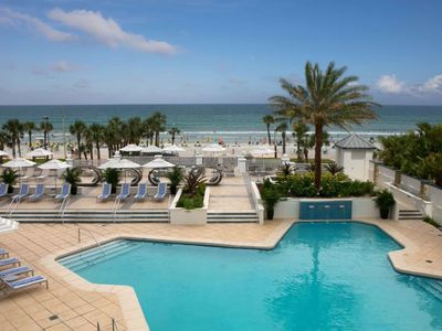 Photo for Oceanfront Resort w/ Sparkling Pool, Gym & Volleyball Court! Stay On The Beach!