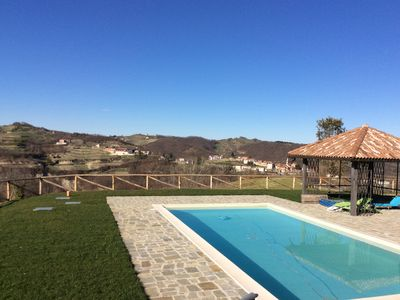 Photo for Dimora Il Capriolo - Hilltop, swimming pool overlooking hills