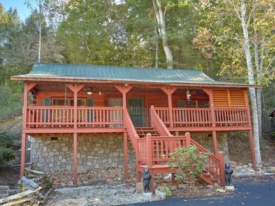 Photo for One of the most beautiful two-bedroom log cabins in the Smokies is Bear's Creek!