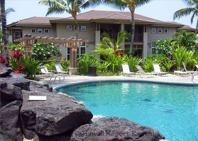 Villa Overlooks Waikoloa Colony Villas Lava Rock Waterfall, Palm-Ringed Pool