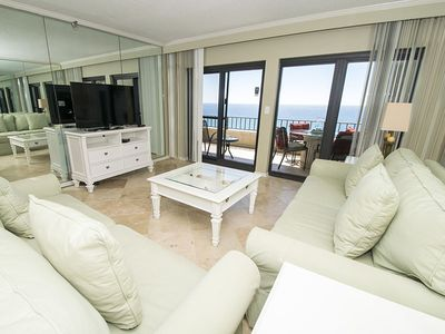 Photo for Beachfront Condo with 30 Ft. Private Balcony! Views from Almost Every Room. Access to All Resort Amenities!