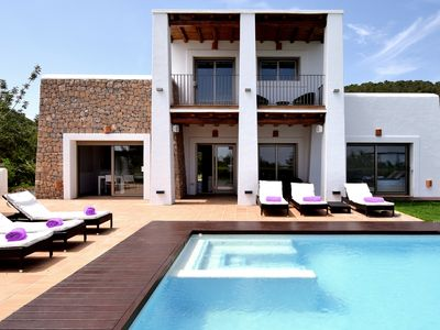 Photo for Fantastic luxury house with great views of the old town of Ibiza and the sea