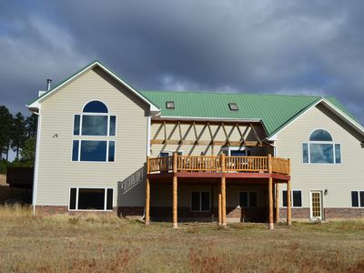 Photo for Reunion Paradise! 6000 sq ft. 20 acres, Hot tub Amazing Views, Close to Deadwood