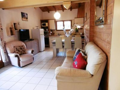 Photo for 3 bedroom cottages 15 minutes from the ocean with swimming pool and playground