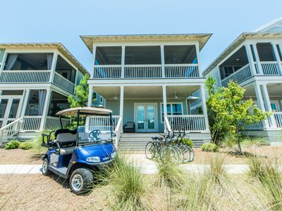 Photo for 7th Night Free (10/18-12/31)* 4 Seater Golf Cart! 4 Bikes! ~ Footprints in the Sand at NatureWalk 30