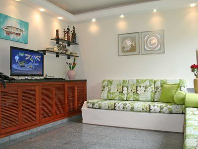 Photo for 3 bedrooms, swimming pools, gardens, 24 hour security, air conditioning next to the beach.
