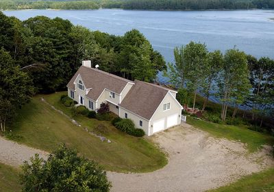 Sheepscot Shores House. Aerial view