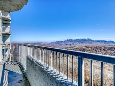 Photo for Stunning mountain condo with fireplace & shared pool/hot tubs/sauna/gym!