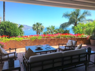 Photo for PANORAMIC SEA VIEW APARTMENT with Pool Terrace +  Garden  Taormina
