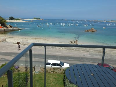 Photo for Bay of Perros Guirec, Bréhat Port Blanc beautiful T2 WIFI magnificent sea view