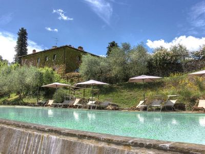 Photo for Camellias, apartment in farmhouse at the gates of Chianti, swimming pool with a view.