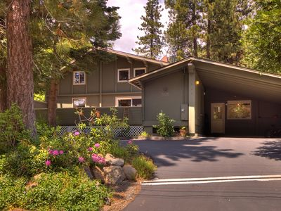 Photo for 3 Bdrms, 2 Lofts, Hottub, Fenced Yard, Summer Cottage. Walk To Tahoe City & Lake