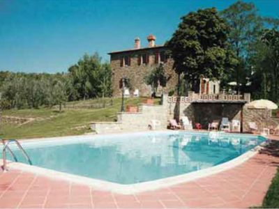 Photo for Farmhouses located on the hills around the village of Monte San Savino, 5 apartments, large swimming
