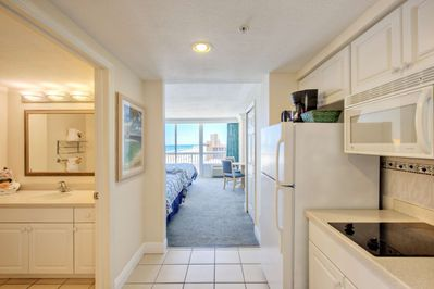 Bright and spacious suite provides picturesque views of Florida's coastline.