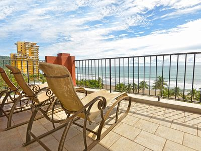 Photo for Luxury and Location: Vista Mar Beach Front Penthouse at Cocal Hotel & Casino!
