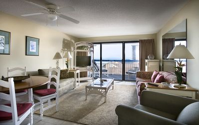 Photo for Great Ocean View King Suite w/ Balcony + Official On-Site Rental Privileges