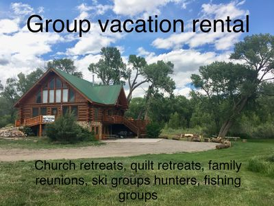 Photo for On the RIVER! Group rental available Columbus Day Weekend! Sleeps 25!