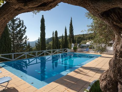 Photo for NEW LISTING Traditional Greek stone property with stunning views and pool