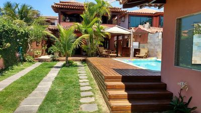 Photo for Casa Veraneio 5 rooms with swimming pool, sauna, barbecue, split air and wi-fi
