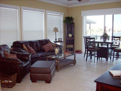 Living Room and Dining Room with View