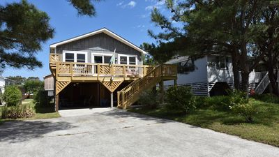 Photo for COZY BEACH HOUSE- 3 BEDROOMS,1.5 BATHS & EASY WALK TO THE BEACH. DOG FRIENDLY