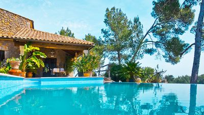 Photo for Charming villa for 6 people in Inca, pool, AACC, views, Wifi