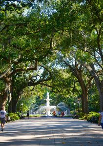 Forsyth park just two blocks away