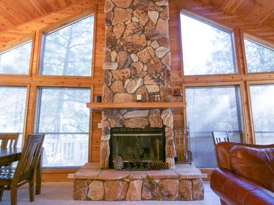 Photo for PineTime Cabin: Luxury 3bed/2bath hm In Tonto National Forest Pine, AZ Sleeps 9*