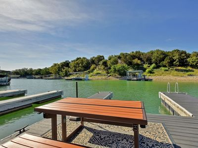 Photo for Nicely Updated 3BR on Lake Travis – Private Boat Slip & Large Shady Backyard