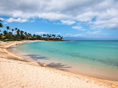 Photo for Tropical Poolside Condo on Napili Bay Beach with Free High Speed Internet and AC