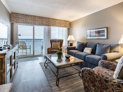 Photo for Updated beachfront unit, Beach setup included, Quick drive to entertainment
