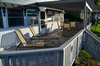 The huge deck is perfect for entertaining or just enjoying the view!