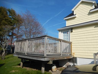 deck that is attached to 1st floor unit