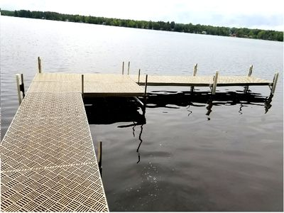 Swim area with dock and designated boat slip (up to 21')