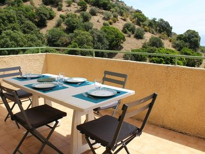 Photo for AJACCIO - Nice apartment with sea view terrace F3-275
