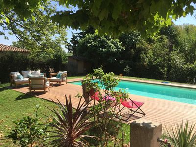 Photo for Bourgeois house of 1860 for 8 people, swimming pool, 200 m2