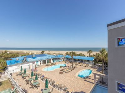 Photo for Top-Floor Condo with Ocean and Pool Views from Private Balcony, Great Location, On-Site Restaurant
