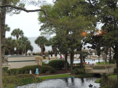 Photo for Updated Luxury Attractive 2 BR Villamare/Palmetto Dunes Condo with Ocean View Pool BBQ grill Area