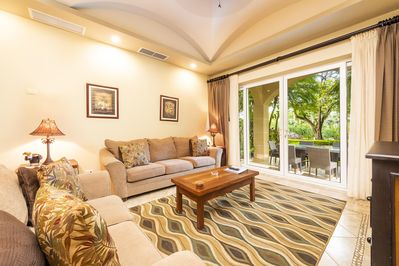 Spacious living area, access to private terrace