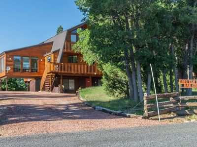 Photo for Large pet friendly cabin situated between both Zion and Bryce with A/C! Enjoy the fresh mountain air